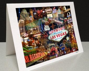 Viva Las Vegas 5 x 7 Greeting Card - Las Vegas, NV