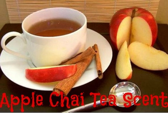 APPLE CHAI TeA Scented Soy Wax Melts - Fruit Spice Scent - American Grown Soy Tarts - Wickless Candle - Handmade Poured In USA - Max Scented