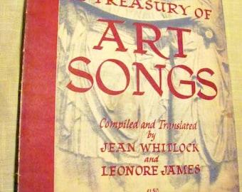 Treasury of Art Songs, vintage book of classical songs