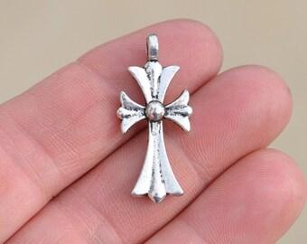 5  Silver Cross Pendants SC1814
