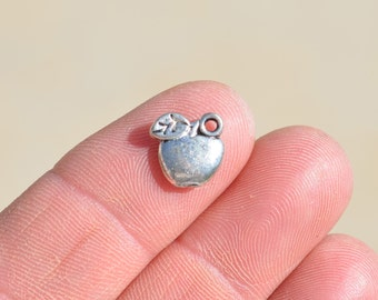 10  Silver Apple Charms SC1160