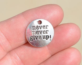 5 Silver, Never Never Give Up, Charms SC2054