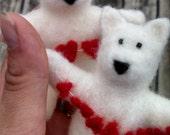 Custom Listing for Barb- 2 Needle Felted Samoyed Dogs