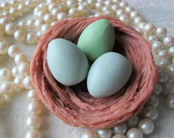 Handcrafted Soap Eggs in nest Soap