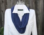 Infinity Scarf Jersey Knit - Blue (extra long)