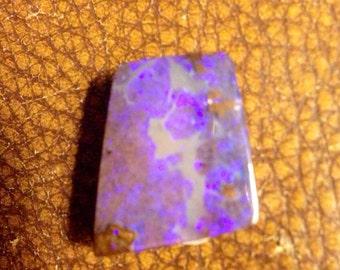 SALE!!! Fiery purple australian boulder opal pendant