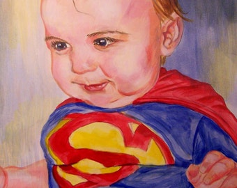 Custom Portrait traditional paint on canvas! Various sizes and prices