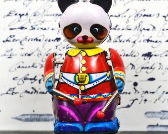 Antique Metal Panda c. 1950... Wind-Up toy.... Vintage toy...  Collection... Display...  L Bag 3