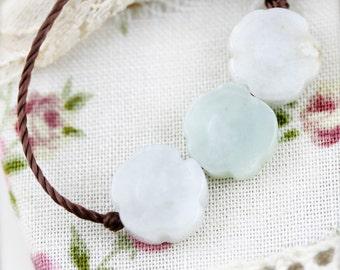 Three fortune fields unisex necklace -  jadeite