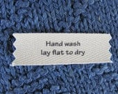 Knitting/Crochet Care Labels- Hand Wash Lay Flat to Dry