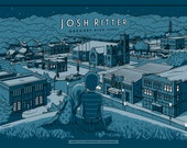 "Josh Ritter Gig Poster - Bloomington, IN - ""Joy To The City"""