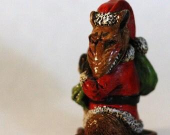 Santa Rat Sculpture- Black Peter- Lisa Snellings
