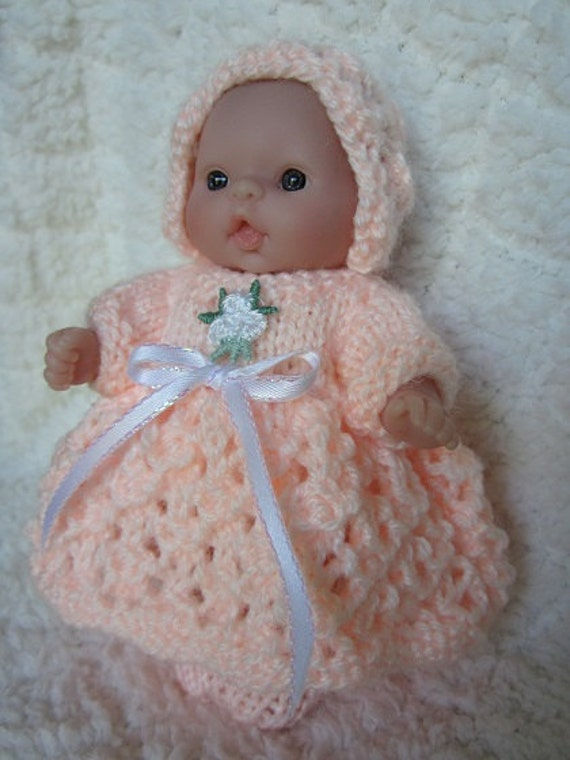 How To Knitting Patterns For Beginners : Knitting Pattern Itty Bitty Baby Dolls Lattice Lace Dress