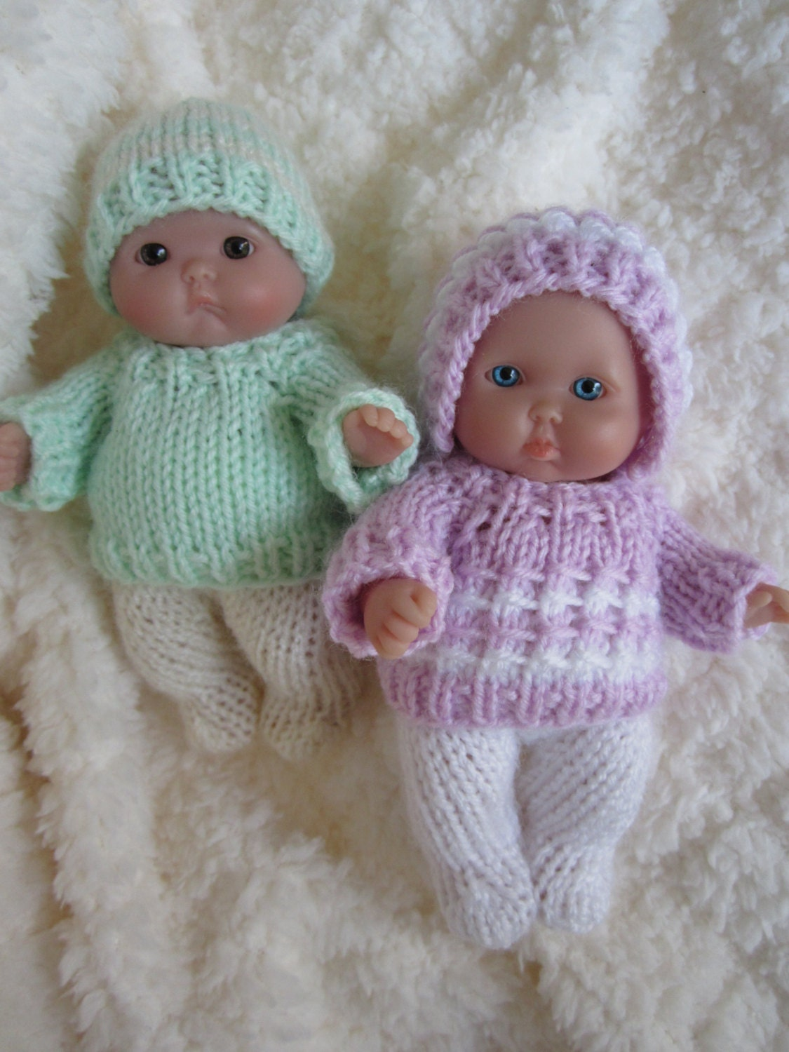Free Knitting Patterns For 10 Inch Dolls Clothes : Doll Clothing Knit Pattern Berenguer Baby Doll Boy and Girl