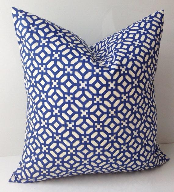 Cobalt Blue Throw Pillow Covers : Cobalt Blue Pillow Cover Decorative Pillow Throw Accent Pillow