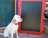 Large Chalkboard Picture Frame Whimsical Package 20x30 board with a exterior large size of 28x38 choose color