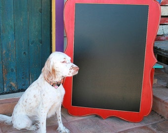 Magnetic Chalkboard Picture Frame Whimsical Package 20x30 board with a exterior large size of 28x38