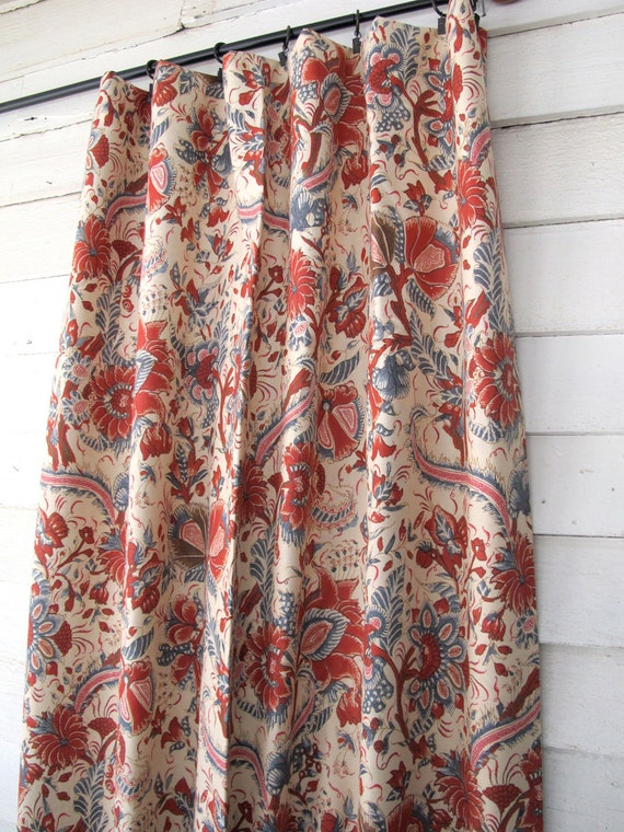 Unavailable listing on etsy for English floral curtains