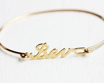 Bev Name Bracelet