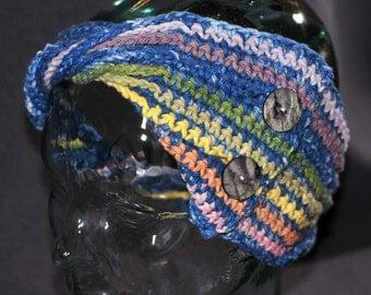 Indigo Rainbow Chain Cowl
