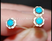 Flower Nose Stud / Turquoise Nose Stud / Turquoise Nose Ring / Gemstone Nose Ring /  - Southern Belles in Turquoise -  CUSTOMIZE