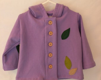 Purple Fall Jacket with Leaves
