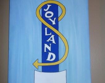 Mid Century Joyland Sign Painting 16x12 (Customizable)