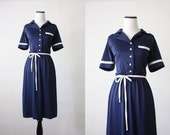 vintage 1970s nautical day dress