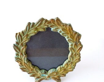 SALE Round Photo Frame French Style