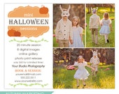 Halloween Autumn Mini Session Marketing Board Template - INSTANT DOWNLOAD