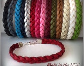 Braided Leather bracelet, Friendship bracelet, leather bracelet