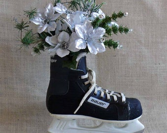 Recycled Hockey Skate Wall Hanging or Centerpiece