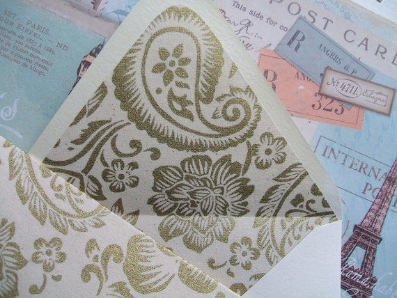 Greeting Cards - Paisley  (Set of 10)