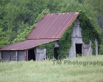 Old Barn - Rural Decay - Rural - Farmland - Deserted Barn - Vacant - Summer Field - Fine Art Photography