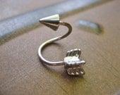 16 Gauge Arrow Twist Piercing Belly Button Jewelry Ring Ear Earring Hoop Navel Spiral Bar Jewelry Barbell