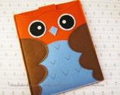 "iPad Sleeve, iPad mini sleeve, iPad Air sleeve, iPad mini case, iPad Air case, iPad 4 sleeve, iPad 4 case, iPad 5 air case, ""red &brown owl"""