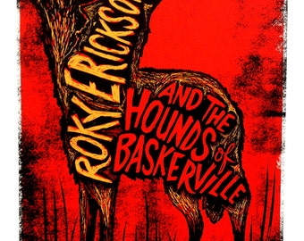 Roky Erickson and the Hounds of Baskerville Screenprinted Poster