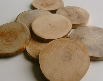 100  Tree Branch Slices 2 inch Wood Rounds Bulk lot
