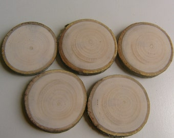10 Light Wooden Tree Branch Rounds Tree Cookie 2.5 inch