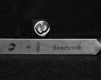 Metal Design Stamp By Beadsmith 6mm Baby Feet