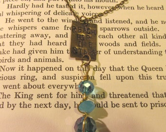 Item 2114 Reach for the Stars hand stamped Pendant