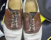SALE - Vintage Rockabilly Hip Hop Gangster Men's Saddle Shoes from Rustysecrets
