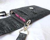 Black cell phone purse - mobile phone bag - small crossbody purse - cell phone bag - cell phone pouch - small black bag purse MADE to ORDER