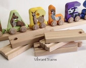 SALE Universal wooden train track for your alphabet name train or Brio or Thomas the Tank Engine toy train