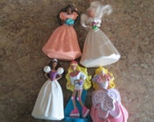 Five Vintage Small Barbie, Barbie dolls, 1991-1992, Roller skate Barbie, Wedding Barbies by Styx on Etsy