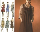 Womens Pattern Jumper Dress Simplicity 0504 Uncut Size D5 4 to 12 Project Runway