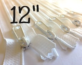 SALE - Five white 12 inch YKK Handbag zippers with extra long pull - YKK white color 501