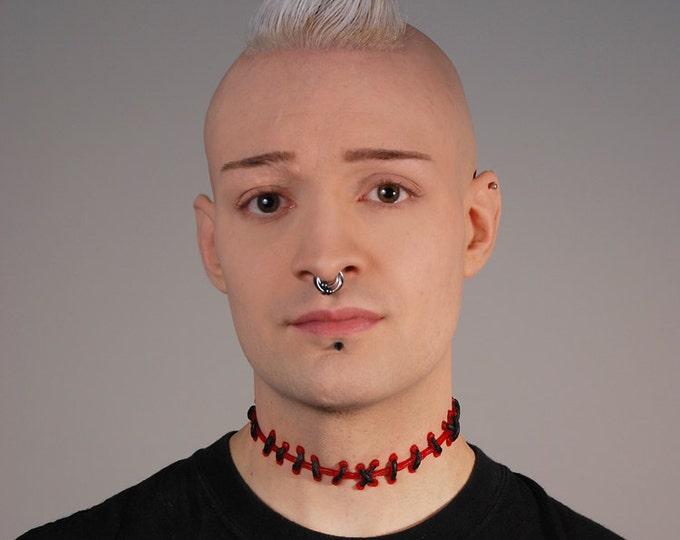 Halloween Zombie Stitch Necklace - Weird Creepy Cute Halloween Jewelry - Unique Gift