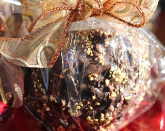 Chocolate Covered Caramel Apples (3) with Toffee - by Denise's Delectables Bakery
