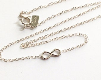 Infiniti Necklace Sterling Silver. Infinity Pendant